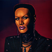 Grace Jones painting von Paul Meijering
