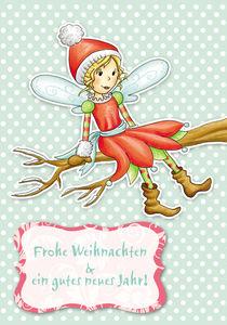 Weihnachtskarte WInterfee Rosalie von Gosia Kollek