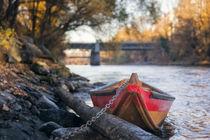 Small boat on the riverside von Gerhard Petermeir