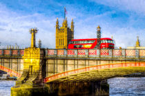Lambeth Bridge and Westminster Art von David Pyatt