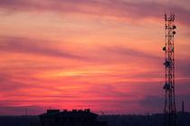 Cellular tower after sunset by Vladislav Romensky