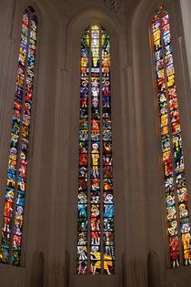 Chorfenster der Petrikirche in Rostock von Sabine Radtke