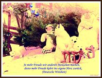 ~Christmas Card Polar Bears~ by Sandra  Vollmann