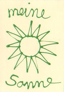 Meine Sonne-eine Grusskarte von Susanne Müller