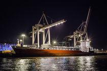 Ship in Hamburg Harbor by Daniel Heine