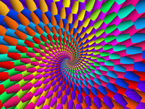 Psychedelic Rainbow Spiral  by Kitty Bitty