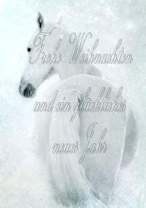 Schneepferd Weihnachtsgrußkarte von artfulhorses-sabinepeters