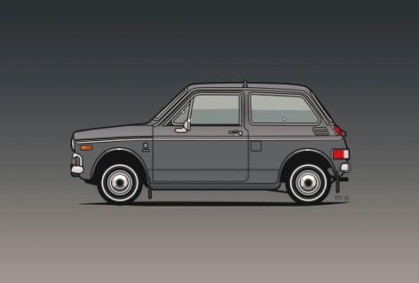 Illu-honda-n600-grey-poster