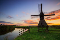 Mill at sunset by Jan Butzkies