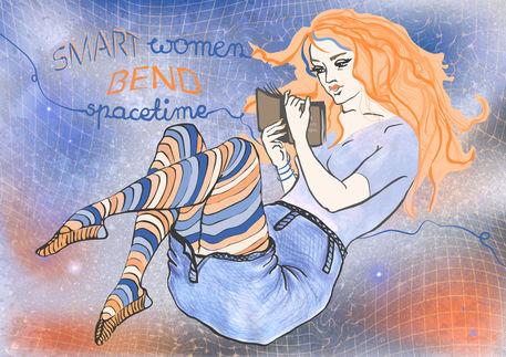 Smart-women-bend-spacetime-print