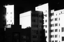 Buildings at Dawn in Monochrome by John Williams