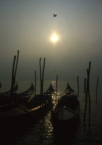 Venedig Gondeln im Dezember von Jeansimon C. Melchior