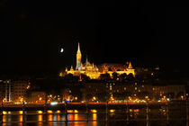 Buda side of Budapest with the Buda Castle, St. Matthias and Fishermen's Bastion by night von Tania Lerro