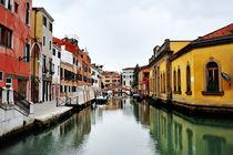 Beautiful view of venetian canal, Venice, Italy by Tania Lerro