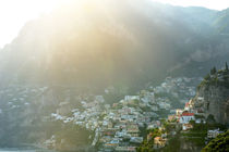 Positano panoramic view in a sunny day, Amalfi coast by Tania Lerro