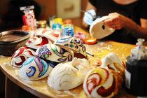 handmade masks in a workshop of craftsmen, Venice by tanialerro