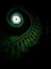 Spiral staircase in gren tones von Jarek Blaminsky