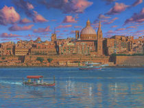 Evening in Valletta Harbour, Malta von Richard Harpum