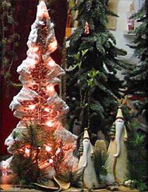 Rosa Weihnachtsbaum von Angelika  Schütgens