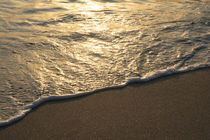 Tropical Beach Waves At Golden Hour by Masoud Rezaeipoor