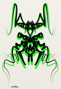 Abstract Dragon Design von Vincent J. Newman