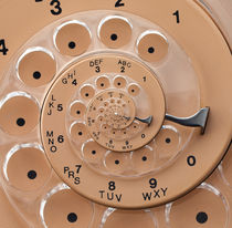 Vintage  Retro Rotary Dial Spiral Droste by Kitty Bitty
