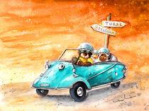 Truffle McFurry Driving To Benidorm von Miki de Goodaboom