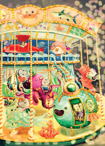 Bats on Nautical Carousel by Monika Suska