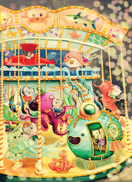Cats-on-vintage-underwater-carousel-r