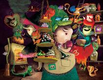 Halloween Witches at Kitchen von Monika Suska