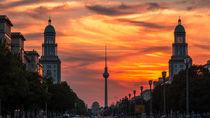 Frankfurter Tor im Sonnenuntergang von Franziska Mohr