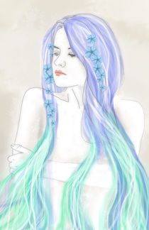 Digital Art (Girl, Mädchen) von sha-designandart