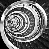 Time Tunnel - a spiral staircase inside a public building by Carlos Alkmin
