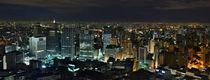 Brazil - Sao Paulo Downtown Skyline Night View from Italia Terrace von Carlos Alkmin