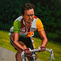 Bernard Hinault painting by Paul Meijering