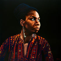 Nina Simone painting by Paul Meijering