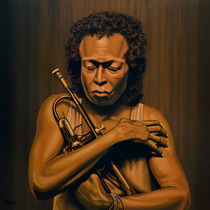 Miles Davis painting by Paul Meijering