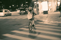 Girl on Bicycle von cinema4design