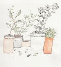 Blumen Topf  von Sabrina Rink