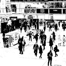 London Commuter Art by David Pyatt