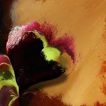 Herz weinrot by Christine Bässler