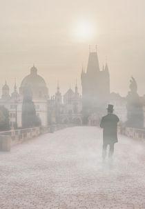 Prague in the morning fog by Jarek Blaminsky