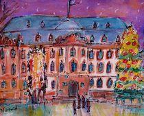 Fassnachtsbrunnen im Winter von Ingrid  Becker