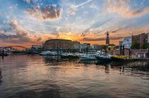 Hamburg Binnenhafen mit Michel I von elbvue