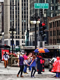 Chicago IL - Rainy Day on E Wacker Drive by Susan Savad
