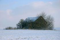 Holzhütte im Winter von Peter Bergmann