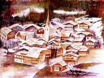 Dorf im Winter von Irina Usova