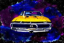 Watercolour 67 Chevy Camaro SS von Paula Ayers