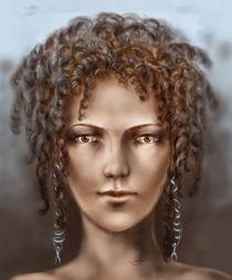 Mulatto with curls by zvezdochka