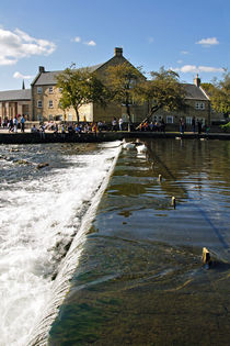 Across the Weir at Bakewell by Rod Johnson